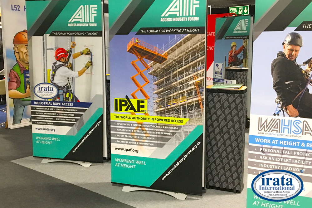 IRATA exhibited alongside fellow members of the Access Industry Forum (AIF)