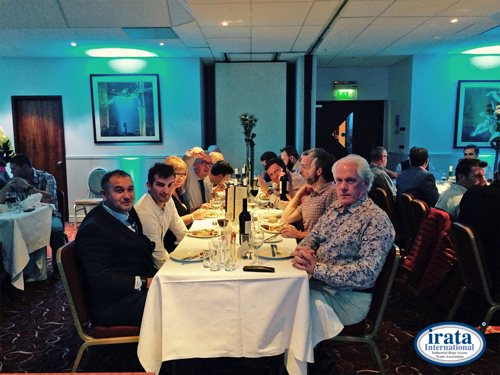IRATA Executive enjoying the ITEC 2015 Annual Dinner