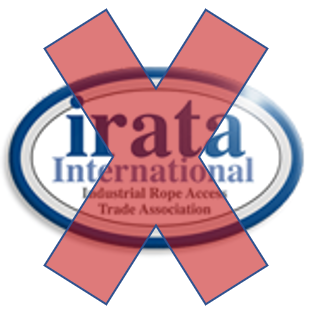 An IRATA logo not featuring the membership number